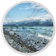 Seward Seashore Round Beach Towel