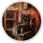 Sewing - Sewing Machine For Saddle Making Round Beach Towel by Mike Savad