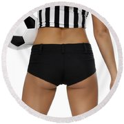 Sexy Referee Round Beach Towel