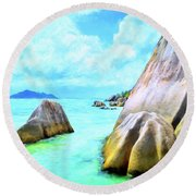 Seychelles Shallows Round Beach Towel