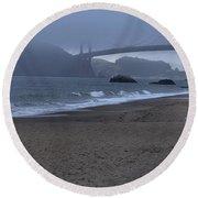 Sf Baker Beach Round Beach Towel