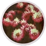 Shabby Chic Floral Design Round Beach Towel