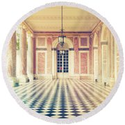 Shabby Chic Versailles Columns Of Grand Trianon Round Beach Towel
