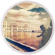 Shabby Chic Versailles Palace Gardens Round Beach Towel