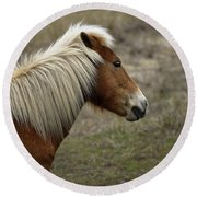 Shackleford Banks Round Beach Towel