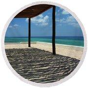 Shade By The Beach Round Beach Towel