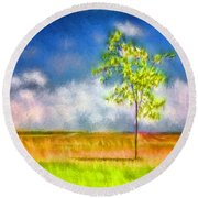 Shade Round Beach Towel