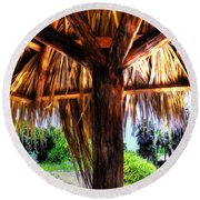 Shade On The Beach Round Beach Towel