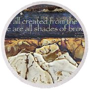 Shades Of Brown Round Beach Towel