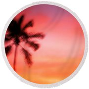 Shades Of Red Round Beach Towel