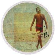Shades Of Summer Round Beach Towel