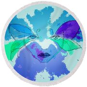 Shades Of The Butterfly Round Beach Towel