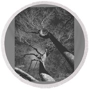 Shadow Of The Day Round Beach Towel