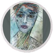 Shadow Of The Soul Round Beach Towel
