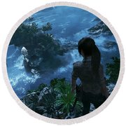 Shadow Of The Tomb Raider Round Beach Towel