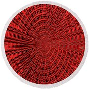Shadow On The Path Abstract #2 Round Beach Towel