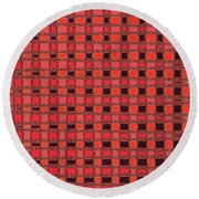 Shadow On The Path Abstract #3 Round Beach Towel