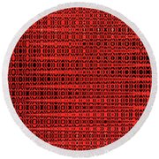 Shadow On The Path Abstract Round Beach Towel