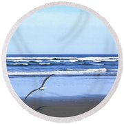 Shadow On The Sand Round Beach Towel