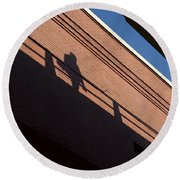 Shadow Skate Round Beach Towel