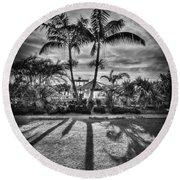 Shadow Waltz Round Beach Towel by Evelina Kremsdorf