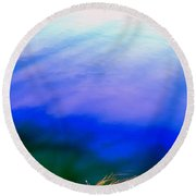 Shadowed Waters Round Beach Towel