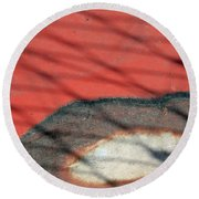 Shadows And Rust Round Beach Towel