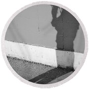 Shadows I Knew Round Beach Towel