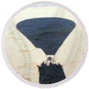 Shadows Of Freedom Round Beach Towel