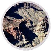 Shadows Of Grand Canyon Round Beach Towel