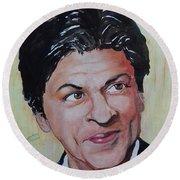 Shah Rukh Khan Round Beach Towel