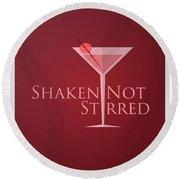Shaken Not Stirred Round Beach Towel