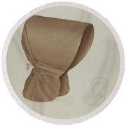 Shaker Bonnet Round Beach Towel
