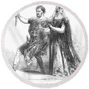 Shakespeare: Macbeth, 1845 Round Beach Towel
