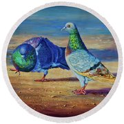 Shall We Dance? Round Beach Towel
