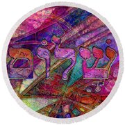 Shalom Round Beach Towel