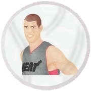 Shane Battier Round Beach Towel