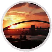 Shanghai City 12 Round Beach Towel