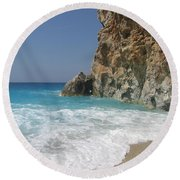 Shaped By The Sea  Round Beach Towel