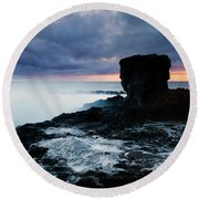 Shaped By The Waves Round Beach Towel