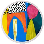 Shapes 2 Round Beach Towel