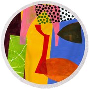 Shapes 4 Round Beach Towel
