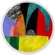 Shapes 5 Round Beach Towel