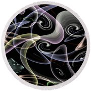 Shapes Of Fluidity Round Beach Towel