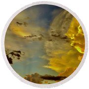 Shapes Of Heaven Round Beach Towel