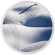 Shapes Of Winter Round Beach Towel