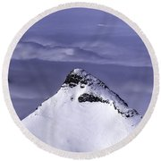 Shark Fin Peak Round Beach Towel