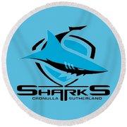 Sharks Cronulla Sutherland Round Beach Towel