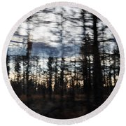 Shasta Trinity National Forest Round Beach Towel