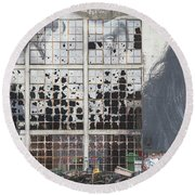 Shattered Dreams Round Beach Towel